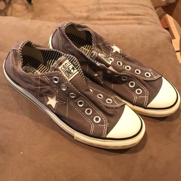 1106672dded6 Converse Shoes - EUC CONVERSE GRAY ONE STAR LACELESS SZ 8.5
